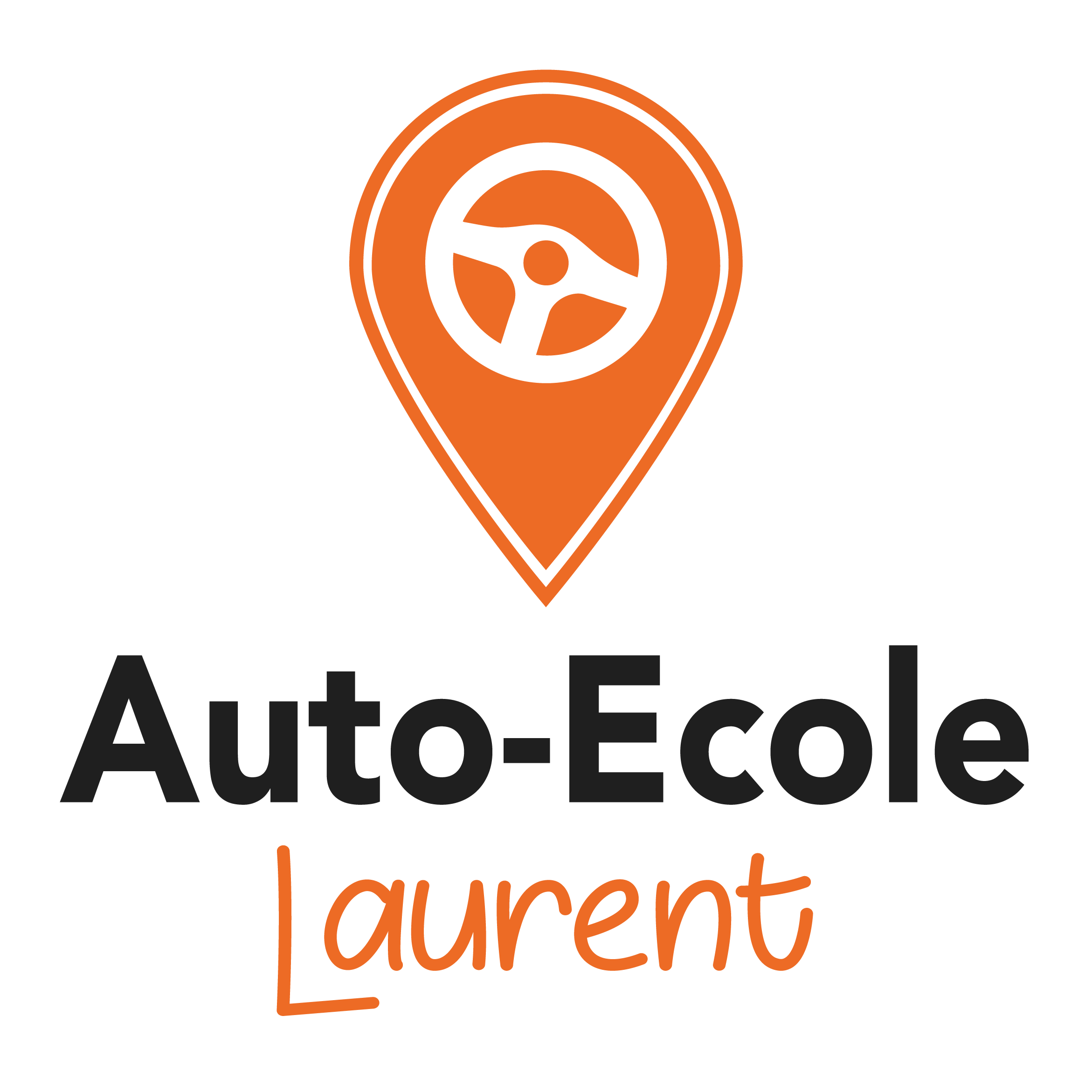Logo auto école laurent